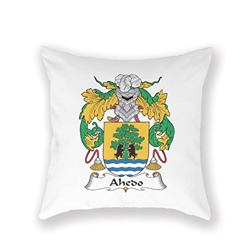 VintageSh0p Ahedo Ahedo Coat Of Arms Ahedo Surname Ahedo Family Crest Pillow Case Throw Pillow Cover Customized Pillowcase Decorative Pillow Case Pillow Covers Cotton,16X16Inches