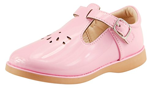 (The Doll Maker Girl`s T-Strap Mary JaneTD173043C-10 Pink)