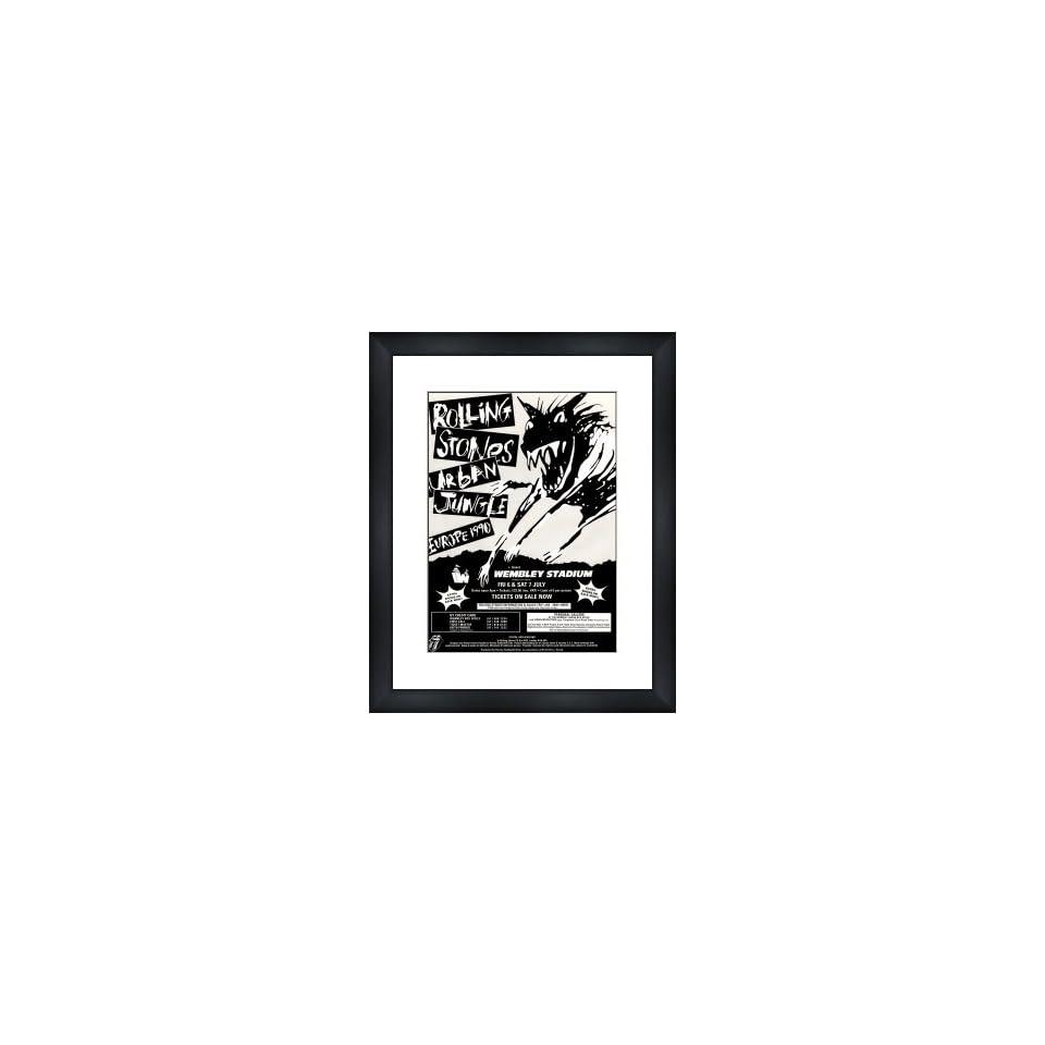 ROLLING STONES Urban Jungle Tour Wembley July 1990   Custom Framed Original Ad   Framed Music Poster/Print