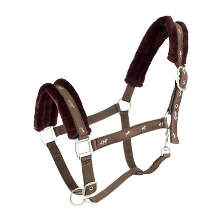 (HZ Basel Halter and Lead Set - Size:Pony Color:Chocolate Brown)