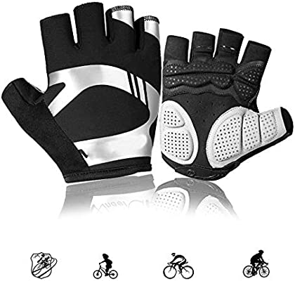 Guantes Ciclismo Hombre Verano Mujer Medio Dedo,Antideslizante ...