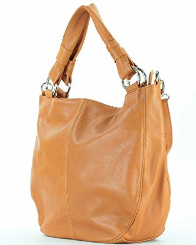 Histoiredaccessoires - Sac en cuir pour femme porté sur l'épaule Sa148514a-donatella Camel Camel