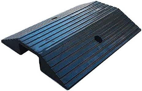 XUZgag ラバースロープ、フロアカバーボード双方向スロープケーブル保護カバーノンスリップスレッショルドスロープ 滑り止め (Color : Black, Size : 50*49*7.5CM)