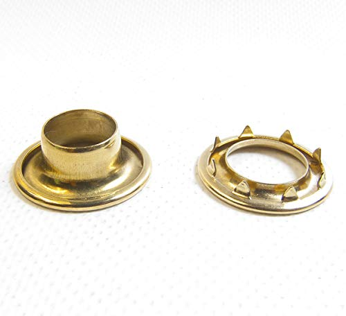 Brass #4 217-4 Rolled Rim Spur Grommets Sold by The Gross (144) by #4 Rolled Rim Spur Grommets
