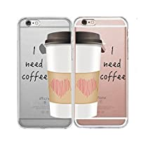 """Shark® Transparent! """"I need coffee"""" Edition matching couple case for (Two cases for Ipod touch 5)"""