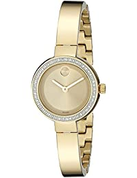 Womens 3600322 Analog Display Swiss Quartz Gold Watch