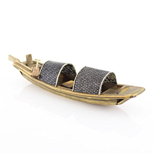 (Onepin Wooden Wupeng Boat Model, Chinese Style Traditional Handmade Fishing Ship Fully Assembled Pre-Built Model Ship Wooden Gift (Not a Kit) (R6))