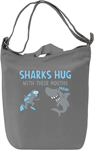 Sharks Hug With Their Teeth Borsa Giornaliera Canvas Canvas Day Bag| 100% Premium Cotton Canvas| DTG Printing|