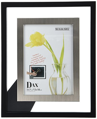 DAX 5 by 7-Inch Upper West Side Float Wood Frame, Black/Brushed - Dax Wood