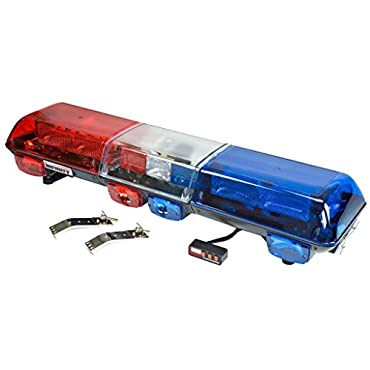 Wolo Infinity 2 48in. Strobe Light Bar Red & Blue Lens, Model# 7515-BR