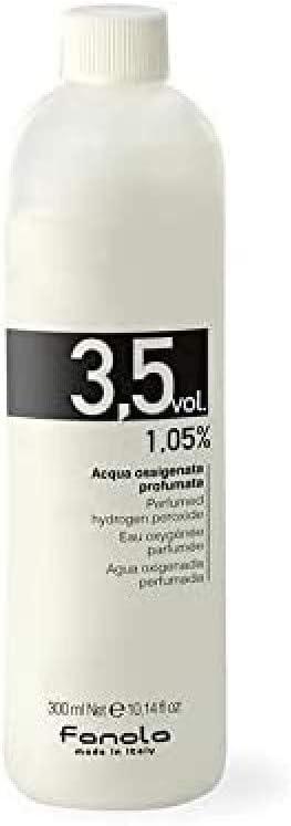 Fanola Activador Cremoso Revelador 3,5 VOL 1,05% 300mL - Agua oxigenada emulsión perfumada aroma plátano -Tinte cabello pelo - PROFESIONAL