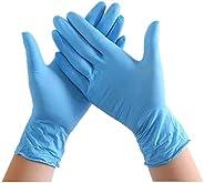 100PCS Disposable Nitrile Vinyl Gloves, Latex Free, Powder Free, Non-Sterile, Healthcare, Food Handling Use (L