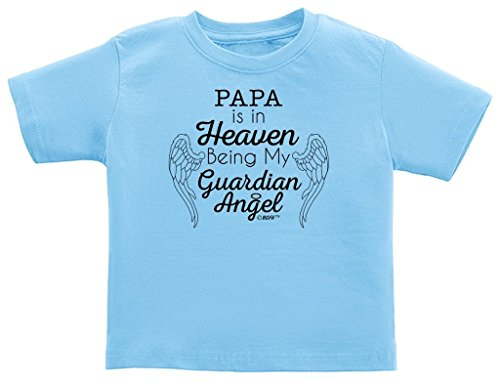 Papa in Heaven Being My Guardian Angel Infant T-Shirt 18 Months Light Blue