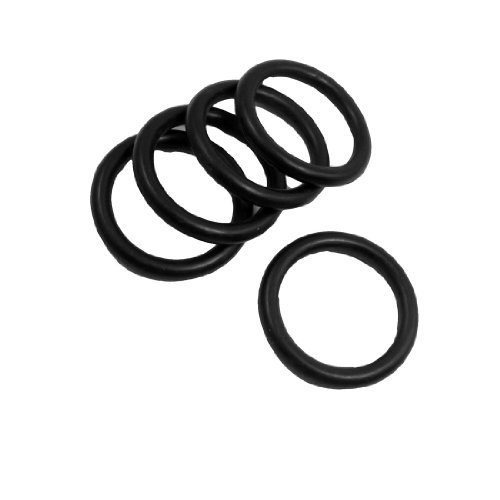 DealMux 5 Pcs 40mm x 5mm Rubber Sealing Oil Filter O Rings Gaskets Black DLM-B00A77JYVM