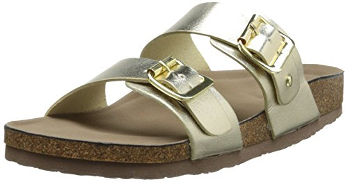 Madden Girl Women's Brando Flat Sandal, Gold Paris, 7.5 M US (Gold Paris Sandals)