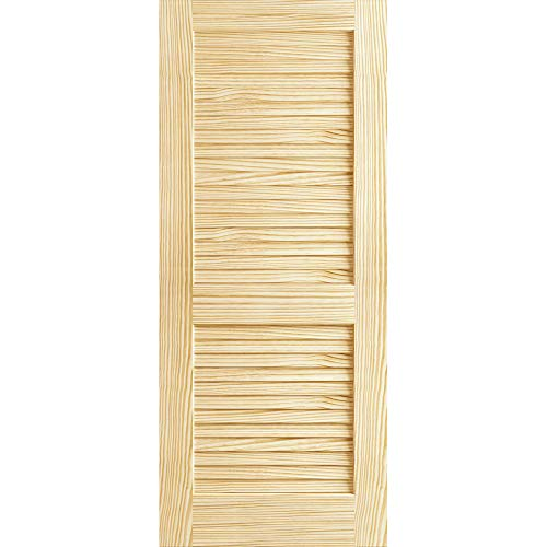 Plantation Louvered Unfinished Solid Core Pine Interior Slab - Louvered Door Solid