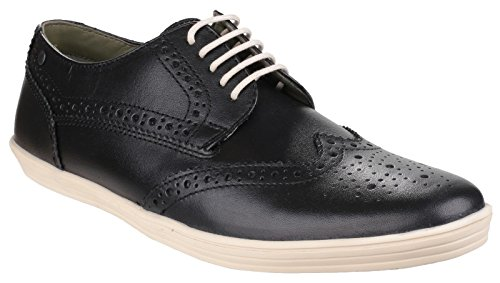 Base London Mens Perform Lace up Casual Leather Shoes Black