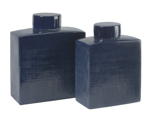 Moody Blue Ceramic Canisters - Set of 2 by XoticBrands