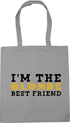 Beach Light HippoWarehouse friend 10 x38cm litres Bag the Shopping Gym I'm best Grey blonde 42cm Tote wS87RHS6q