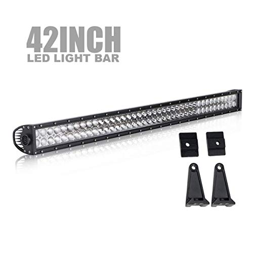 Led Light Bar TERRAIN VISION 42Inch 240W Straight Spot Flood Combo Led Off Road Lights Super Bright Driving Light Boat Lights Driving Lights LED Work Light Bar,2 Years Warranty