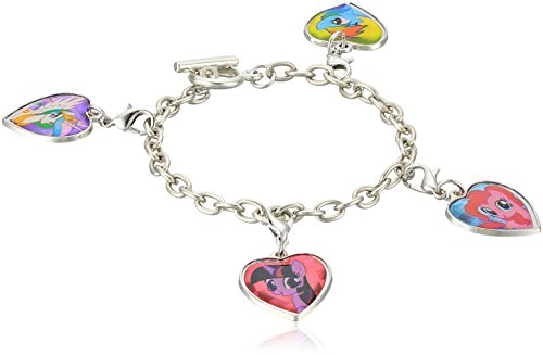 Price comparison product image My Little Pony Poster and 4 Piece Pinkie Twilight Celestia Rainbow Hear Charm Bracelet