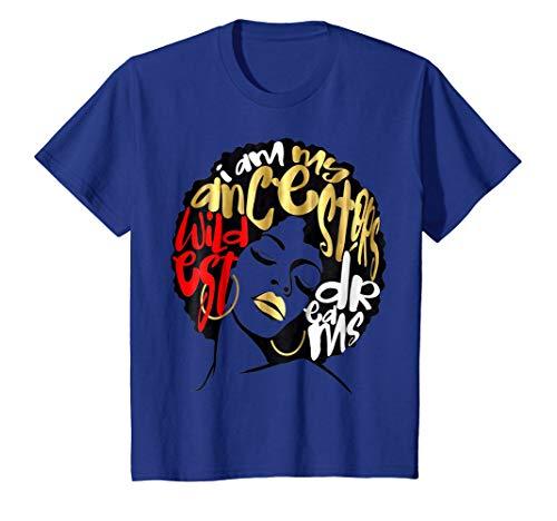 I Am My Ancestors Dreams Shirt Gold Black Girl Magic Red