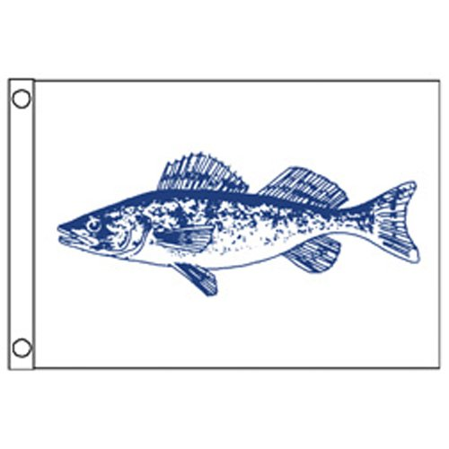 Taylor Made Products 4618, Fish Flag, Nylon, 12 inch x 18 inch, Walleye