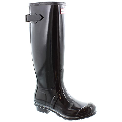 Adjustable UK Hunter Adult Gloss 3 Back Wellingtons Black dqv7zqw