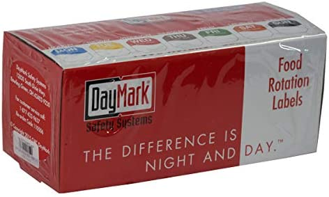 Dispenser Box Included Monday-Sunday DayMark Day of The Week 1 Removable Labels 7,000 Labels
