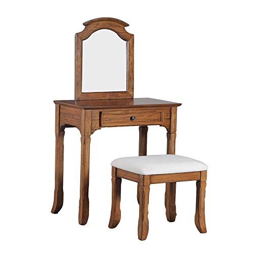 Powell Furniture 15A7034 Oakdale Vanity - Bedroom Oak Vanity