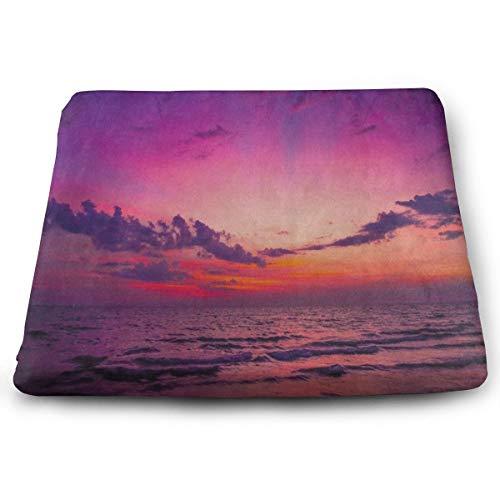 Pkolino Green Desk - Seat Cushion Nature Sunrise Mountain Lake Ocean Chair Cushion Designer Offices Butt Chair Pads for Outdoors