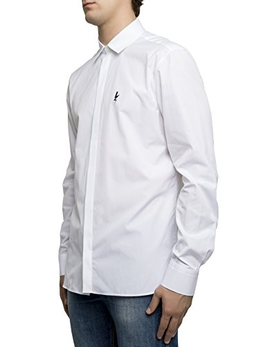 Neil Barrett Homme Pbcm666se002s526 Blanc Coton Chemise