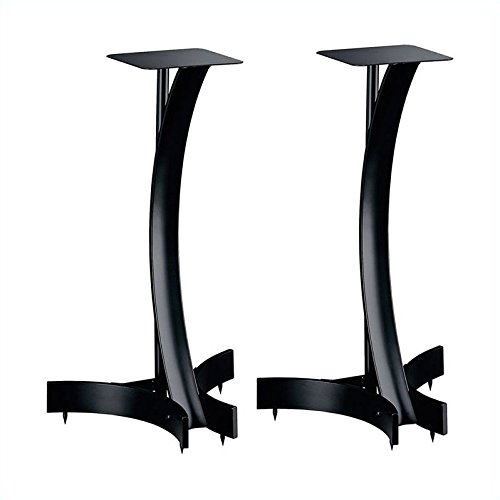 Bell'O SP-224T Speaker Stands, 1 Pair, 24 Inches Tall, Curve