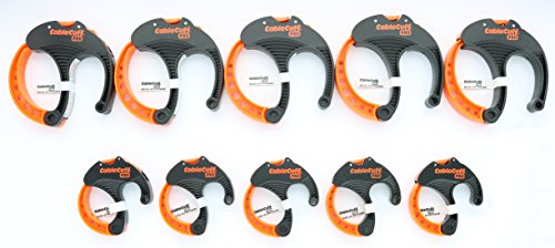 Cable Cuff PRO (10 Piece Bundle: 5x Medium 2 Inch, 5x Large 3 Inch Diameter) Adjustable, Reusable, Cable Tie Replacements for Extension Cords or Electronics