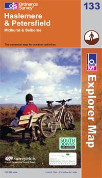 Explorer Map 133: Haslemere and Petersfield