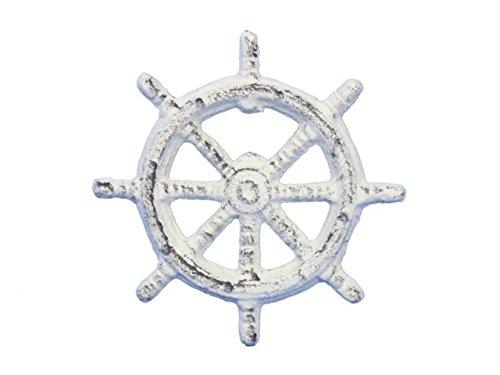 Hampton Nautical  Cast Iron Ship Wheel Bottle Opener, 3.75