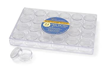 /9-1//2 x 6-3//8 x 1-1//8 Clear Darice 2025-251 Bead Container 1ct