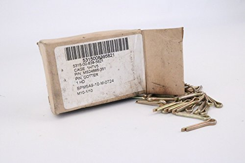 """Cotter Pin Ms24665-351 Box Of 100 Pins 1/8"""" x 1"""" Inch Steel from Military Standards"""
