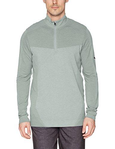 (PUMA Golf Men's 2018 Evoknit Seamless 1/4 Zip Outwear, Quarry, X-Large)
