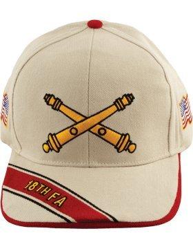 18 Field Artillery Branch of Service Cap (Stone) (Field Artillery Branch)