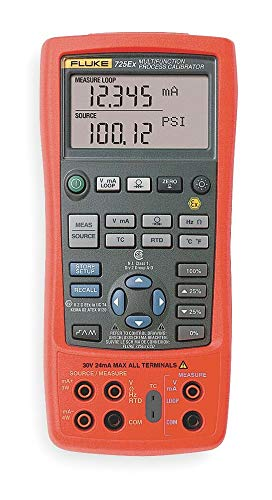 Fluke Intrinsically Safe Multifunction Calibrator, Voltage Measurement Range: 0 to 30VDC, Loop Supply Volt - FLUKE-725EX ()