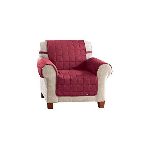 SureFit Soft Suede Waterproof - Chair Slipcover - Burgundy ()