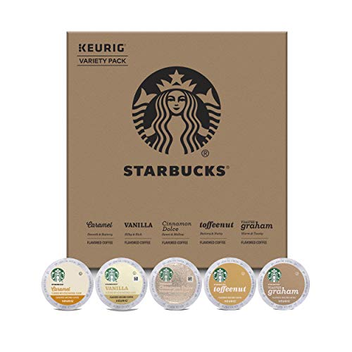 Starbucks Flavored Coffee K-Cup Variety Pack for Keurig Brewers, 40 K-Cup Pods (5 Roasts With 8 Pods Each)