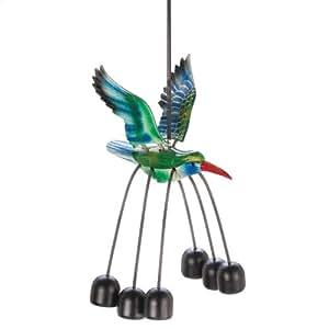 Gifts & Decor Hummingbird Garden Outdoor Bell Wind Chime