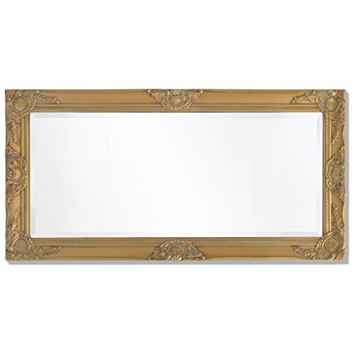 BLXCOMUS Wall Mirror Baroque Style 39.4''x19.7'' Gold mirror With four mounting hooks by BLXCOMUS (Image #2)