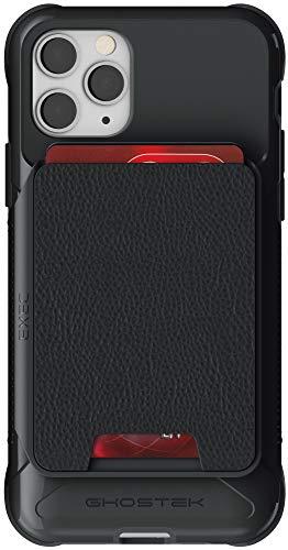 "Ghostek Exec Designed for iPhone 11 Pro Wallet Case Magnetic Leather Card Holder Pocket Slot Holds 4 Credit Cards Military Grade Shockproof for 2019 Apple iPhone 11 Pro (5.8"" Screen Only) - (Black)"