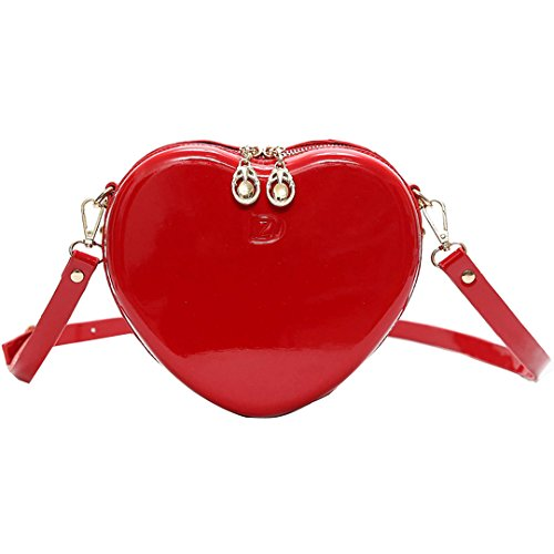Meliya Women Fashion PU Leather Square Shoulder Bags Colorful Rainbow Casual Crossbody Bags Traveling Bags Red