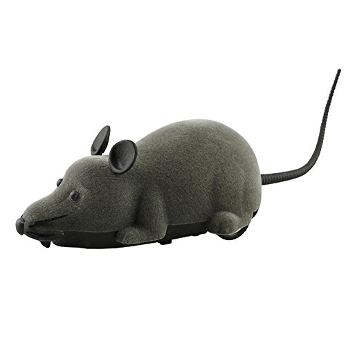 Novelty Funny RC Wireless Remote Control Rat Mouse Toy For Cat Dog Pet Black,Gray,Brown