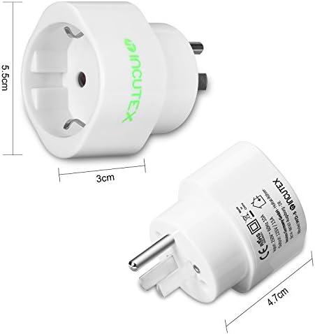 Incutex 1x Adaptador USA Tierra, Adaptador Estados Unidos 3 Pin, Adaptador USA Tipo B, Blanco: Amazon.es: Electrónica