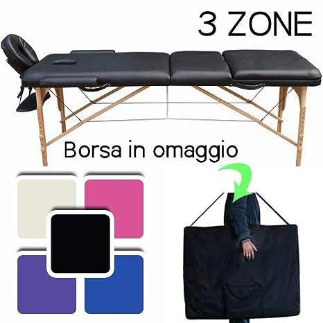 Lettino Massaggio Professionale Lettino Estetista 3 Zone In Legno